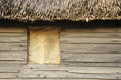 Kolonialhütte an plimoth Plantage Stockbild