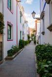 Kolonialna architektura Puerto De Mogan Fotografia Stock