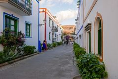 Kolonialna architektura Puerto De Mogan Fotografia Royalty Free
