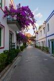 Kolonialna architektura Puerto De Mogan Obrazy Stock