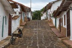 Kolonialna ulica w Barchara Kolumbia Zdjęcie Stock