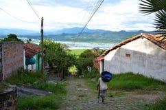 Kolonialny grodzki Suchitoto Fotografia Royalty Free