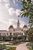 Kolonialny urząd miasta budynek w Saigon Ho Chi Minh mieście zdjęcia stock