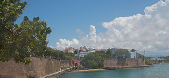 Kolonialny wejście miasto San Juan, Puerto Rico Zdjęcie Stock