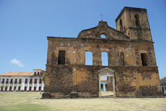 Kolonialruinen von Sao Matias Church in Alcantara Brasilien Lizenzfreie Stockfotografie