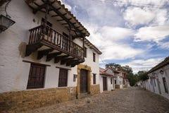 Kolonialstilhäuser in Villa de Leyva Stockbild