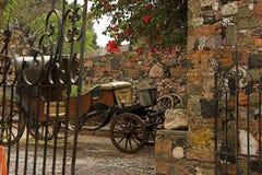 Kolonialszene von Taxco, Mexiko Stockbilder