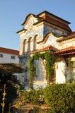 kolonialt hus gammala portugal Arkivfoto