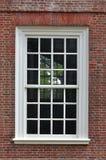 kolonialt väggfönster Royaltyfri Foto