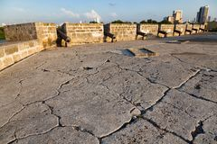 Kolonialwand und alte Stadt Cartagena stockfoto