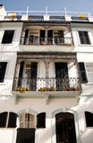 Kolonialwohnsitz in Gibraltar stockfotos