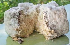 Kolonien von Mikroorganismen Form auf Brot Form innerhalb des Brotes Niedrige Schärfentiefe stockbilder