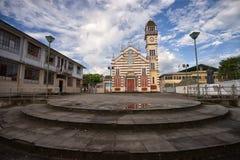 Koloniinvånarekyrka i Archidona Ecuador Arkivbilder