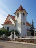Koloniinvånarekyrka i Lobito Royaltyfri Fotografi