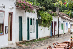 Koloniinvånaren inhyser Paraty Rio de Janeiro Brazil Arkivbilder