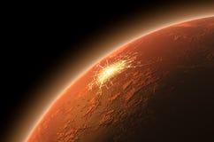 Kolonisatie van Mars Stock Afbeelding
