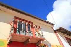 kolonisty balkonowy dom Obrazy Royalty Free