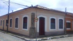 Kolonisty dom w historycznym centrum Iguape zdjęcia stock