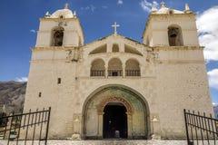Kolonisty stylowy kościół w Chivay, Colca dolina, Peru Zdjęcie Royalty Free