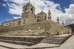 Kolonisty stylowy kościół w Chivay, Colca dolina, Peru Fotografia Stock
