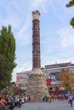 Kolonn av Constantine (den brända kolonnen), Istanbul Arkivbild