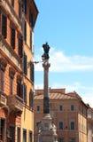 Kolonn av den obefläckade befruktningen, Rome Arkivbilder