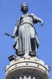 Kolonn av gudinnan i Lille Arkivfoto