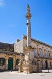 Kolonn av Madonna delle Grazie. Maglie. Puglia. Italien. royaltyfri foto