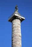 Kolonn av Marcus Aurelius i Rome, Italien Arkivbild