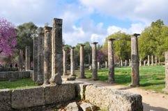 Kolonn av Olympia och perspektiv Royaltyfria Bilder