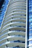Kolonn av runda balkonger Royaltyfri Bild