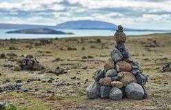 Kolonn av stenar Royaltyfria Bilder