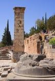 kolonn delphi greece Royaltyfri Bild