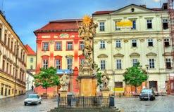 Kolonn för helig trinity i Brno, Tjeckien Arkivbild
