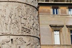 Kolonn för Trajan ` s arkivfoto