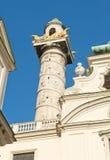 Kolonn i Wien Arkivbild