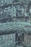Kolonn med lättnad, historiska platser Arkivbild