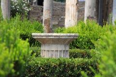 Kolonn på Pompei arkivbilder