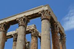 Kolonnad i Grekland Royaltyfria Bilder