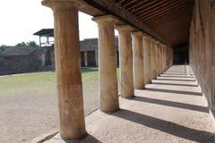 Kolonnad Pompeano Arkivbilder