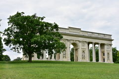 Kolonnade auf Reistna, Tschechische Republik stockbild