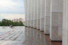Kolonnade des zentralen Museums des großen patriotischen Krieges auf Poklonnaya-Hügel moskau stockfoto