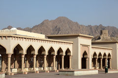 Kolonnade in Muttrah, Oman Stockfoto