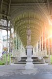 Kolonnade Sadova ColonnadeGarden, Ende des Jahrhunderts XIX, Karlovy Vary Karlsbad, Tschechische Republik stockbilder