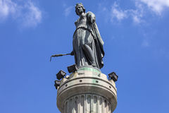 Kolonnen av gudinnan i Lille Royaltyfri Foto