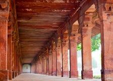 Kolonner Agra, Indien Arkivfoton
