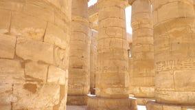 Kolonner av den Luxor templet i Egypten Royaltyfria Foton