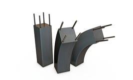 Kolonner för förstärkt betong Arkivbilder