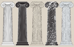 kolonner fem stock illustrationer