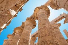 Kolonner i den Karnak templet Fotografering för Bildbyråer